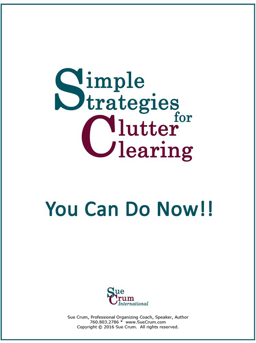 Free ebook - Simple Strategies You Can Do Now To Start Clearing Your Clutter